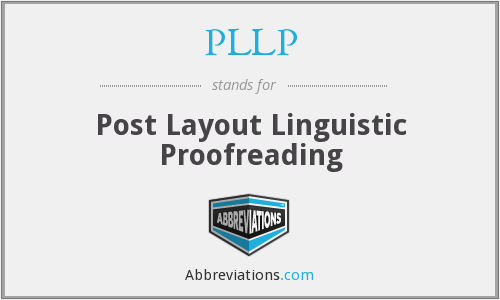 PLLP - Post Layout Linguistic Proofreading