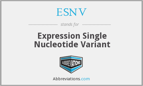 ESNV - Expression Single Nucleotide Variant