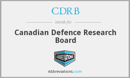 What does CDRB stand for?
