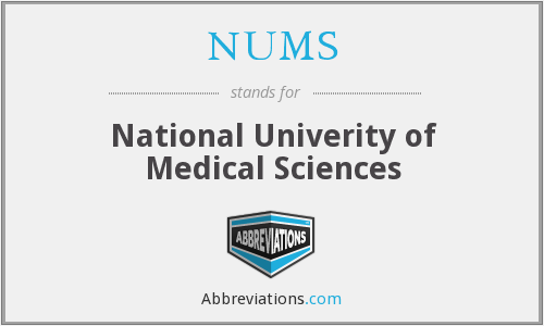 NUMS - National Univerity of Medical Sciences