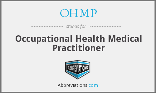 What does OHMP stand for?