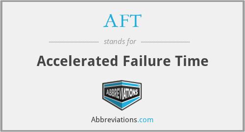 AFT - Accelerated Failure Time