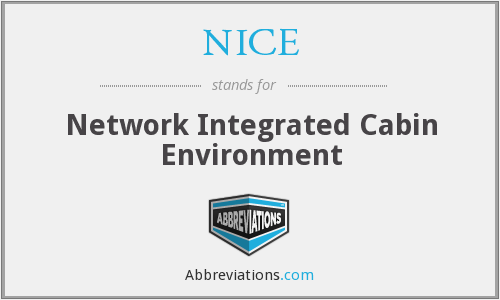 NICE - Network Integrated Cabin Environment