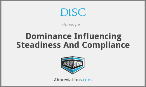 DISC - Dominance Influencing Steadiness And Compliance