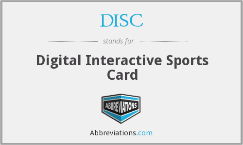 DISC - Digital Interactive Sports Card