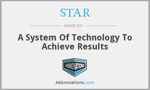 STAR - A System Of Technology To Achieve Results