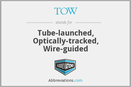 TOW - Tube-launched, Optically-tracked, Wire-guided