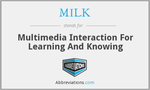 MILK - Multimedia Interaction For Learning And Knowing