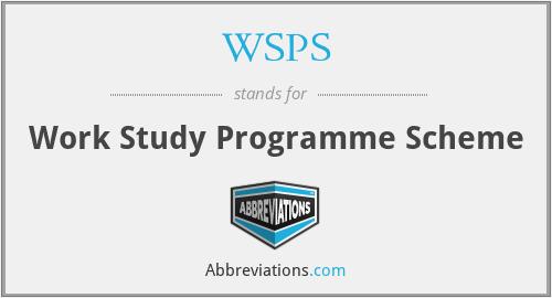 WSPS - Work Study Programme Scheme