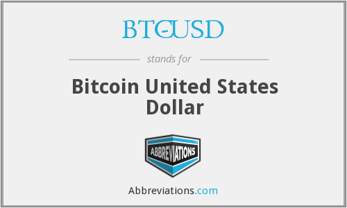 What does BTC-USD stand for?