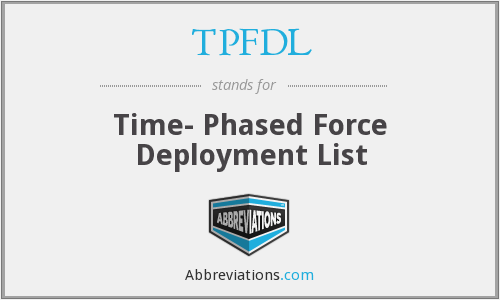 What does TPFDL stand for?