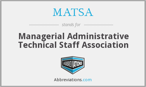 What does MATSA stand for?