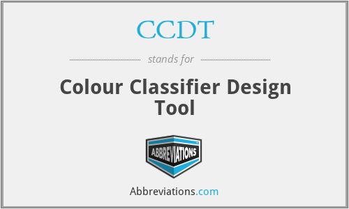 CCDT - Colour Classifier Design Tool