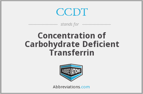 CCDT - Concentration of Carbohydrate Deficient Transferrin