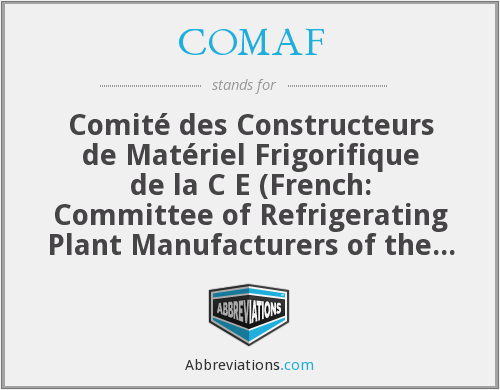 What does COMAF stand for?