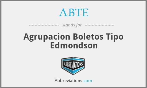 ABTE - Agrupacion Boletos Tipo Edmondson