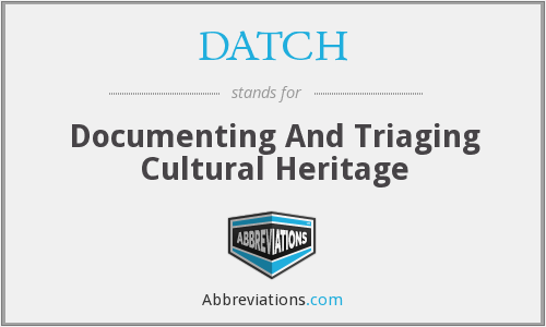 What does DATCH stand for?