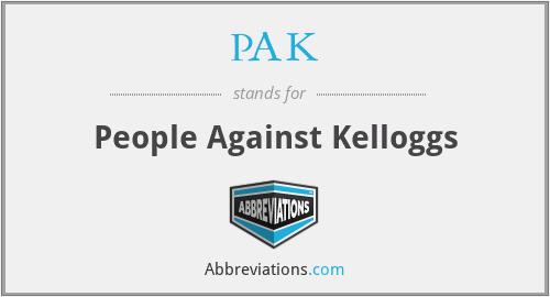 PAK - People Against Kelloggs