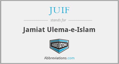 JUIF - Jamiat Ulema-e-Islam