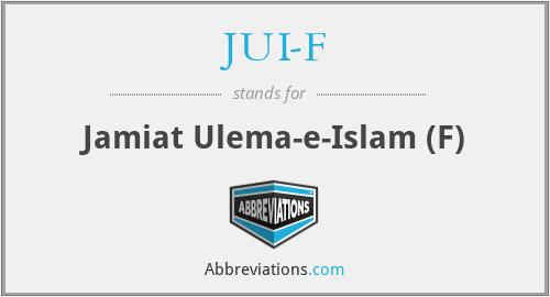 JUI-F - Jamiat Ulema-e-Islam (F)