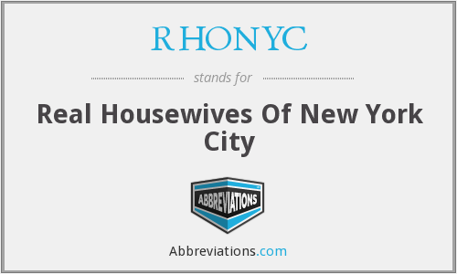 What does RHONYC stand for?