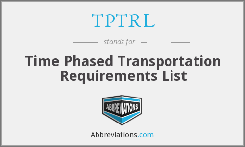 What does TPTRL stand for?