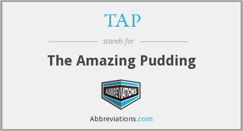 What does pudding stand for?