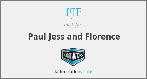 PJF - Paul Jess and Florence