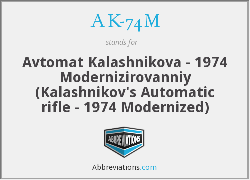 What does AK-74M stand for?