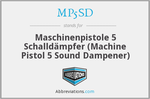 What does MP5SD stand for?