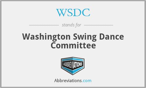 WSDC - Washington Swing Dance Committee