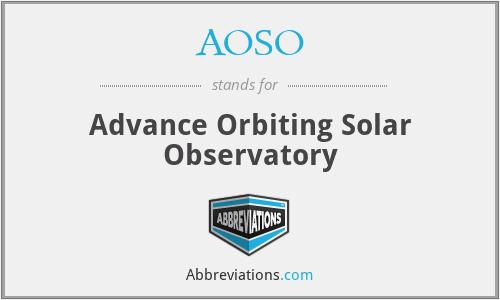 AOSO - Advance Orbiting Solar Observatory
