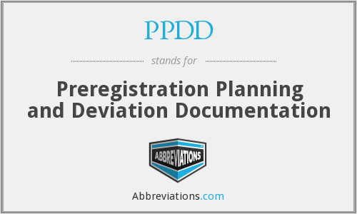 What does PPDD stand for?