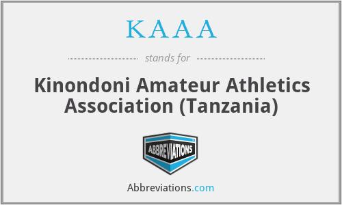 KAAA - Kinondoni Amateur Athletics Association (Tanzania)