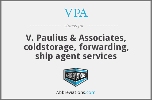 VPA - V. Paulius & Associates, coldstorage, forwarding, ship agent services