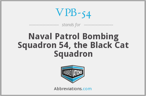 VPB-54 - Naval Patrol Bombing Squadron 54, the Black Cat Squadron