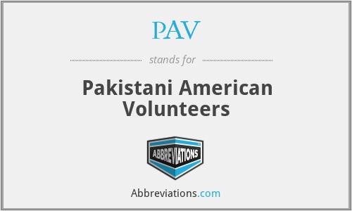 PAV - Pakistani American Volunteers
