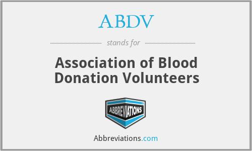 ABDV - Association of Blood Donation Volunteers