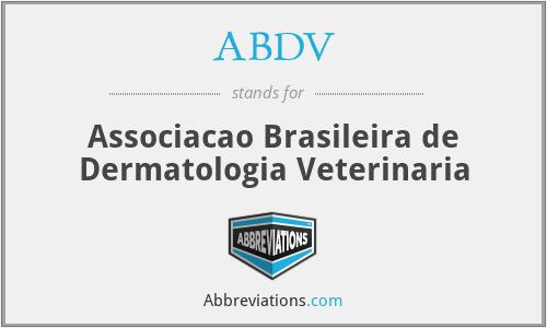 ABDV - Associacao Brasileira de Dermatologia Veterinaria
