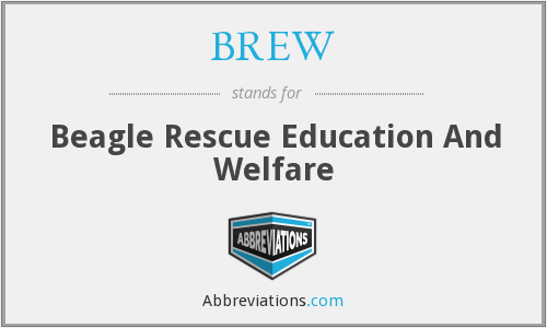 BREW - Beagle Rescue Education And Welfare