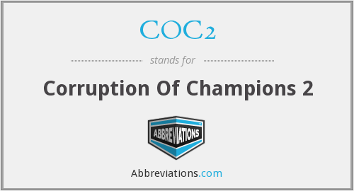 What does COC2 stand for?