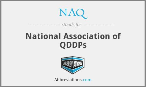NAQ - National Association of QDDPs