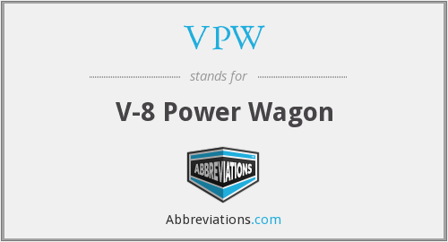 VPW - V-8 Power Wagon