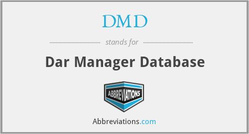 DMD - Dar Manager Database