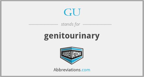 GU - genitourinary