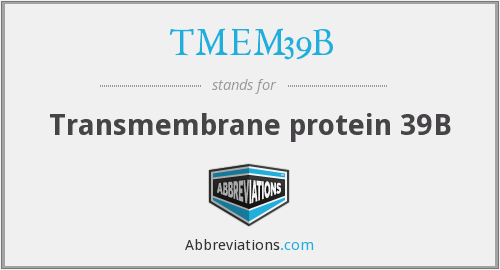 What does TMEM39B stand for?