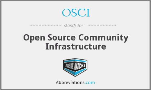 OSCI - Open Source Community Infrastructure