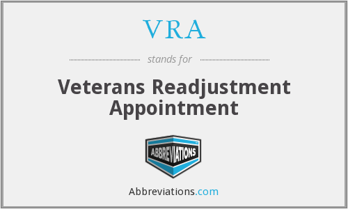VRA - Veterans Readjustment Appointment