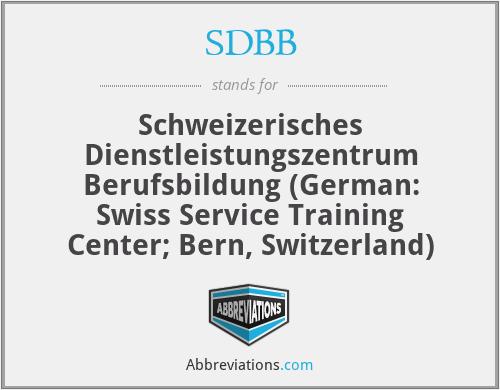 SDBB - Schweizerisches Dienstleistungszentrum Berufsbildung (German: Swiss Service Training Center; Bern, Switzerland)
