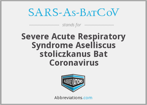 What does SARS-AS-BATCOV stand for?